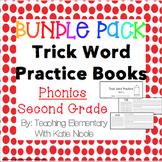 Second Grade Trick/Sight Word Practice Books