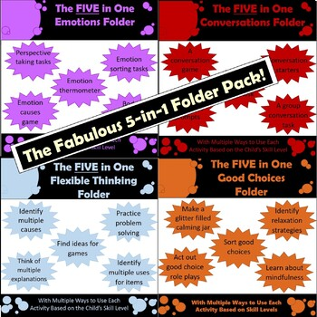 Bundle Pack: Four Fantastic 5-in-1 folders! Great for a wide range of learners!!