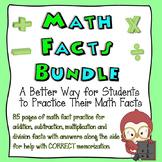 Bundle Pack: Math Facts Worksheets (+, -, x, ÷)