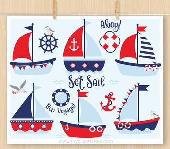 CLIPART BULK PACK -  Nautical / Sailing Clipart