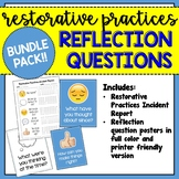 Bundle Pack: Restorative Practices Incident Report and Posters