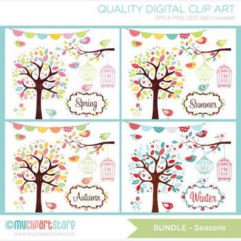 CLIPART BULK PACK -  Seasons / Garden Clipart