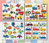 CLIPART BULK PACK -  Transportation / Cars, Trucks & Planes Clipart