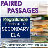Paired Passages and Common Core Writing Tasks: Secondary ELA Bundle