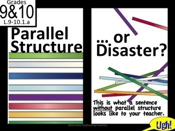 Bundle: Parallel Structure Lesson + Task Cards