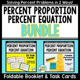 Percent Proportion and Percent Equation Foldable Booklet a