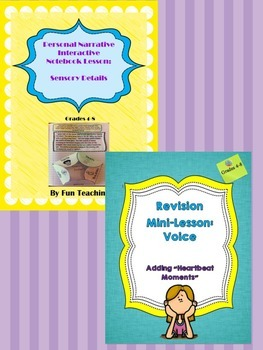 Bundle! Personal Narrative Interactive Notebook Lessons!