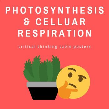 Bundle: Photosynthesis and Cell Respiration Preparation Table Posters