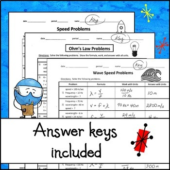 Bundle of Lessons - Physics Problems Worksheets