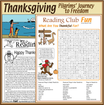 Bundle: Pilgrims Coming to America (Thanksgiving)