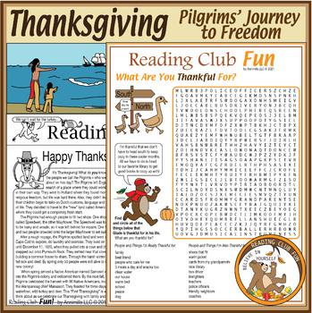 Thanksgiving Puzzle Bundle: Pilgrims Coming to America
