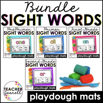 Sight Words Play Dough Mats - (Pre-Primer - Second Grade) Bundle