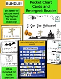 Bundle- Pocket Chart Cards and Emergent Reader:  I Can See