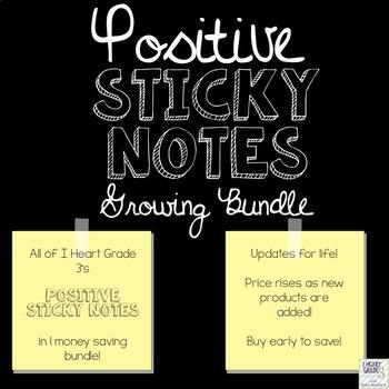 Positive Sticky Notes Growing Bundle