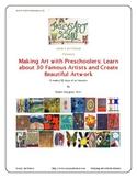 30 Art Lessons Famous Artists Art History Pre-K Kinder 1st
