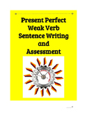 (German Language) Present Perfect Weak Verb Sentence—Practice BUNDLE