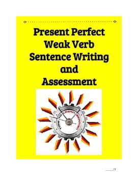 (German Language) Present Perfect Weak Verb Sentence—Practice BUNDLE