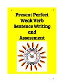 (German Language) Present Perfect Weak Verb Sentence—Practice SET