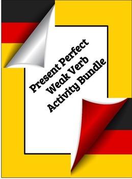 Present Perfect Weak Verbs Activity BUNDLE