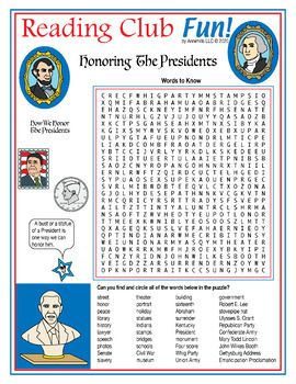 Bundle: Presidents' Day Two-Page Activity Set, Quiz, and Crossword Puzzle