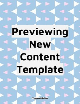 Bundle: Previewing New Content Template/Identifying Critical Content Template