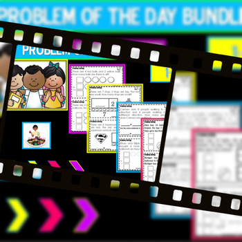 """Bundle: Problem of the Day Chapters 1-5 """"Go Math"""""""