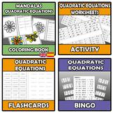 Bundle - Quadratic equations - 12 ITEMS
