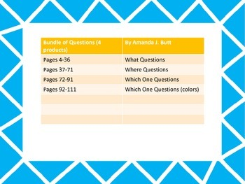Bundle: Question Cards; Where; Which One; What; Autism; Special Education