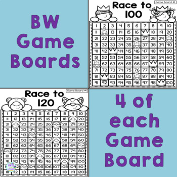 Bundle: Race To 100 and 120: Counting Games to 100 and 120 Including +10/-10