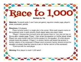 Bundle: Race to 1,000 and 10,000 Multiplying by 10 and 100 =Two games