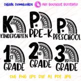 Bundle Rainbow svg Back to school Pre-K Preschool 1st 2nd