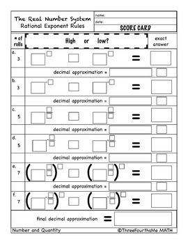 Bundle: Rational Exponent Rules