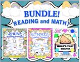 Bundle Reading Comprehension + Math Google Slides Independent Workbook