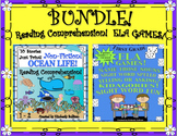 Bundle! Reading Comprehension Passages and Questions!  ELA GAMES!  Grades 1 - 2