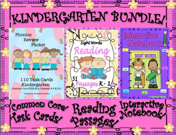 Bundle Reading Comprehension Passages and Questions  Interactive Notebook