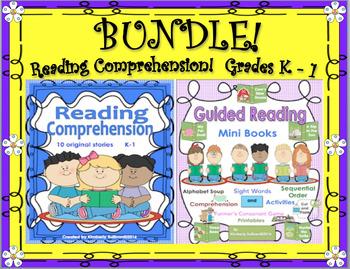Bundle! Reading Comprehension Passages and Questions!  K - 1