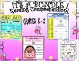 Bundle! Reading Comprehension Passages and Questions K - 2