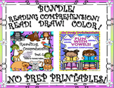 Bundle Reading Comprehension Passages and Questions No Prep READ DRAW COLOR!
