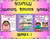 Bundle! Reading Comprehension Passages and Questions!   Phonics!   Games!  K - 1