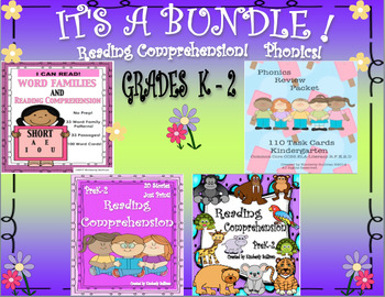 Bundle Reading Comprehension Passages and Questions Phonics Word Families