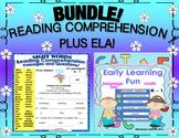 Bundle Reading Comprehension Passages and questions plus ELA printables  K - 1