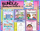 Bundle Reading Comprehension   Phonics   Games   Task Cards  Mini Books   K - 1