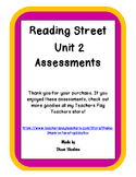 Bundle: Reading Street-Unit 2-Assessments for ALL Stories (Editable)