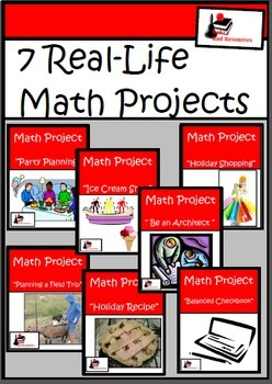 Bundle - Real Life Math Projects - Printable & Distance Learning Versions