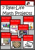 Bundle - Real Life Math Projects - Printable & Distance Le