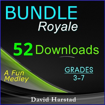 Back to School Bundle: 52 Downloads - Lang., Writing, Science, Math... (Gr. 3-7)