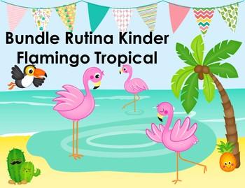 Bundle Rutina Kinder Flamingo Tropical