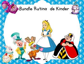Bundle Rutina Kinder Motivo Alice in Wonderland