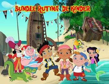 Bundle Rutina Kinder Motivo Jake el pirata