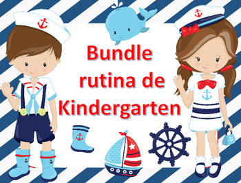 Bundle Rutina Kinder - Motivo Marinero